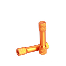 Aluminum textured/knurled step standoff/spacer/pillar