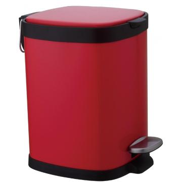 30L RED Stainless Steel Pedal bin