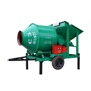 Electric rotating drum concrete mixer with fixing bucket
