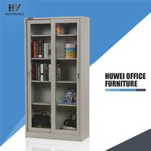 KD sliding glass door steel office bookcase