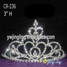 3 Inch Crystal Tiaras