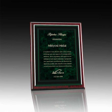 Custom acrylic certificate plaque awards and trophies