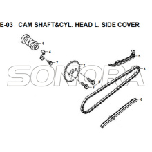 E-03 CAM SHAFT&CYL. HEAD L. SIDE COVER for XS175T SYMPHONY ST 200i Spare Part Top Quality