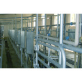 High tech herringbone milking hall