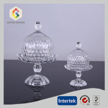 High Quality for China Manufacturer of Glass Cake Stand, Wedding Cake Stands, Glass Cake Stands Hand Pressed Glass Domed Cake Plate export to Benin Manufacturers