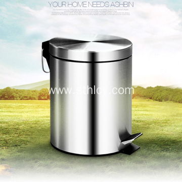 High Quality Metal Pedal Stainless Steel Garbage Can