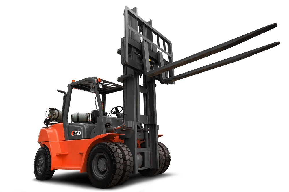 Forklift With High Exhaust
