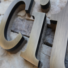 3D Custom Made Bronze Letter Signs