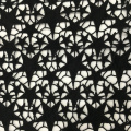 Milky Yarn Star Pattern Chemical Lace Embroidery Fabric