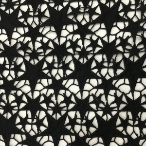 Personlized Products for White Guipure Lace Fabric Mat Milky Yarn Star Pattern Chemical Lace Embroidery supply to Pakistan Factory