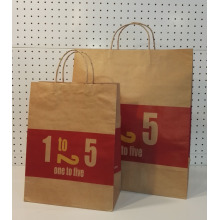 Wholesale Price for Natural Brown Kraft Paper Bag Brown Paper Shopping Bags export to Peru Supplier