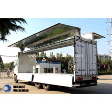 New Delivery for Open Wings Van Truck 27 Tons Wing Opening Box Body Truck supply to Lithuania Factory