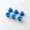 Drones ອະລູມິນຽມ Anodized Serrated Companion Flange Nut