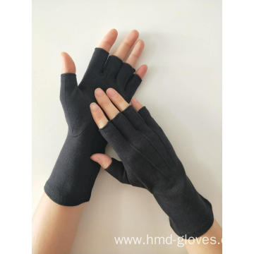 Black Fingerless Cotton Gloves
