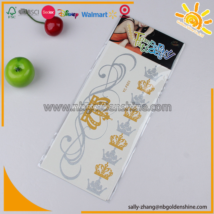 Promotion Metallic Tattoo
