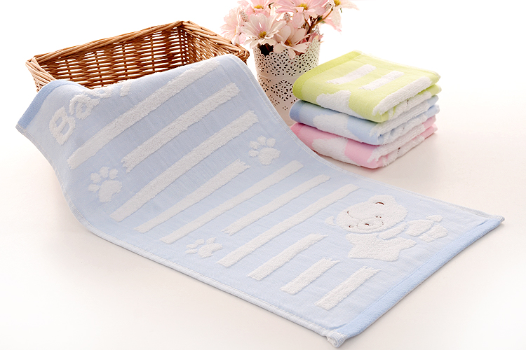 Cotton Terry Blue Towel