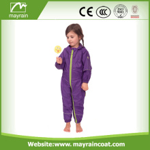 Children Waterproof Outdoor Colorful Polyester Rainsuit