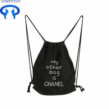Custom canvas bag zipper bag double shoulder bag
