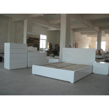 Good Quality for White High Gloss Bed The full set of bedroom furniture supply to France Suppliers