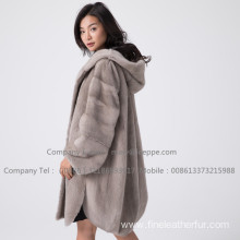 Kopenhagen Mink Fur Lady Coat In Winter