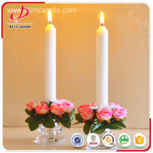 Wedding paraffin wax white taper candle