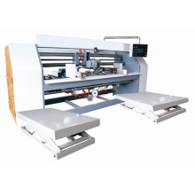High speed two-piece corrugated paperboard stitching machine