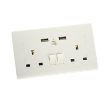 High Quality for Wall Power Socket Dual UK USB Wall Socket With Surge Protection export to United States Manufacturer