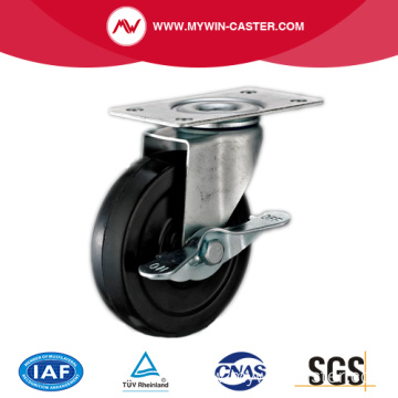 Plate Light Duty Caster with Brake