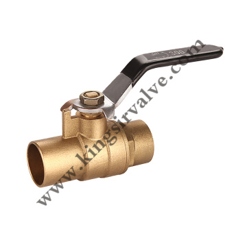 Soldered brass ball valve