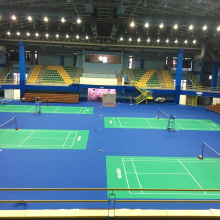 PVC badminton floor mat with BWF