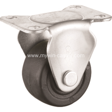 2.5 inch plate rigid PP material low gravity caster wheel