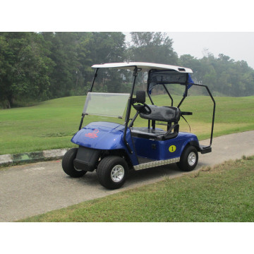 battery or gas powered two seater golf car for golf course
