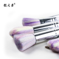 Colorful Head White Spiral Handle Makeup Brush
