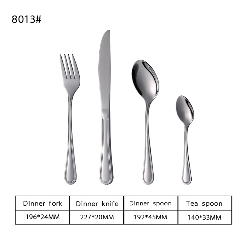 Simple Piece Stainless Steel Cutlery Set