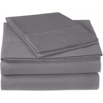Atacado 4PCS Cotton Saten 300TC Bedding Sheet Set