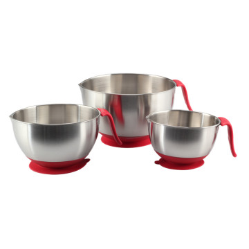 Long Handle Stainless Steel Mixing Bowl Set forHome