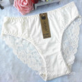 OEM wholesale new style underwear beige yellow sexy comfortable lace cotton fancy panty 805