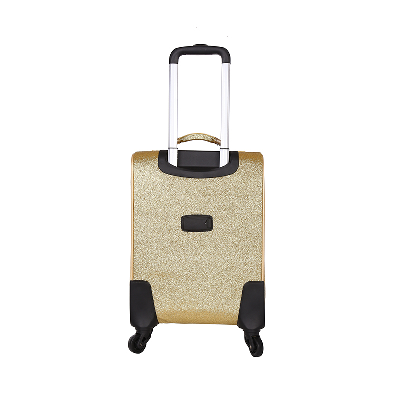 soft scratch resistant PU leather luggage bags 3