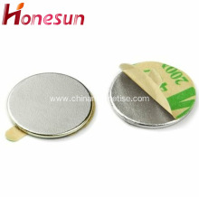 Strong disc magnet with adhesive of neodymium magnet