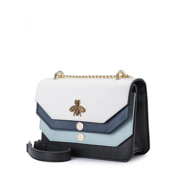 Gradient color fashion leather shoulder bag