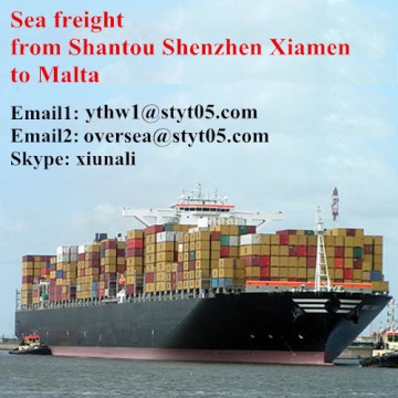 Ocean freight from Shantou shipping to Malta