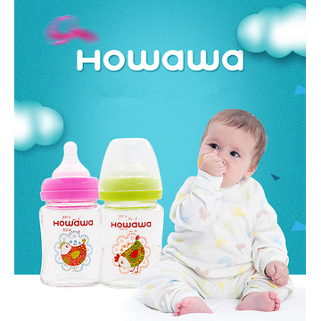 5oz Glass Baby Feeding Bottle Without Handle