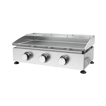 Three Burner Stainless Steel Gas Plancha
