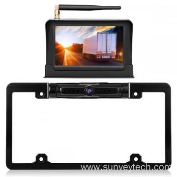 Full Frame License Plate Camera with Monitor 5inch Digital Wireless