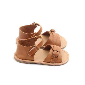 Rubber Sole Leather Kids Boy Summer Sandals Shoes