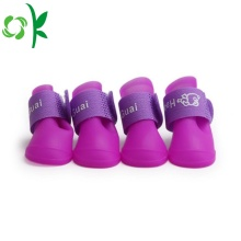 Pet Waterproof Shoes Outdoor Silicone Rain Dog Shoes