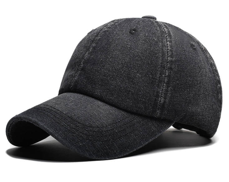 Denim Plain Cap Black