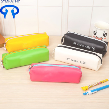 Customized cute PU leather creative pencil case