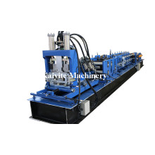 Metal Interchangeable C Z Purlin Roll Forming Machine