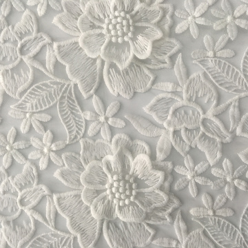 Best Selling  Handmade Flower Mesh Embroidery Fabric